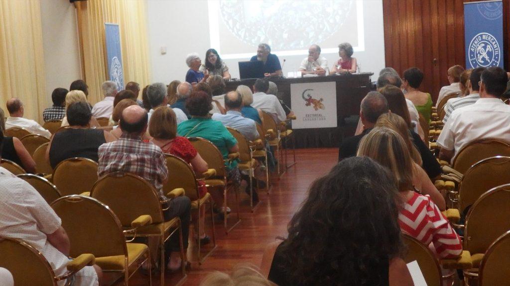 Presentación de Roses Fines el pasado 5 de julio en el Ateneo Mercantil de Valencia